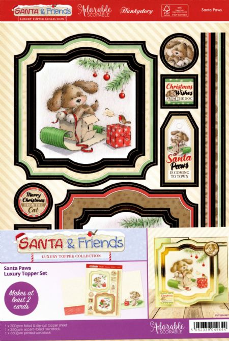 Santa Paws - Santa & Friends Luxury Topper Set By Hunkydory